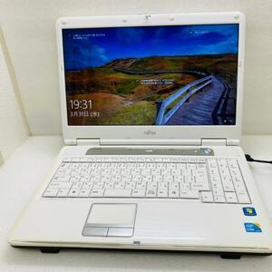 ☆富士通ノートパソコン NF/G50☆Win10/Microsoft Office付き/core i3-M330/SSD512GB搭載/メモリ8GB/15型/中古/PC/P207