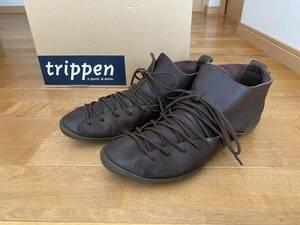 trippen Greece ダークブラウン サイズ41 27.5~28cm cup メンズ シューズ トリッペン レザー / Haferl スパルタ