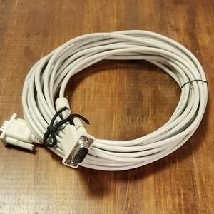 PCモニター用 VGAケーブル 10m D-SUB15PIN オス-オス