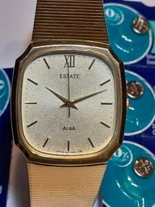 ALBA ESTATE 腕時計 バッテリー付 中古実働品 送料無料