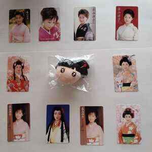 長山洋子テレカ&顔人形