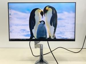 美品 EIZO 27型 液晶モニタ- FlexScan EV2750 使用時間831H 2019年製 エルゴトロン Neo-Flex LCD モニターアーム付き(管:2E-M)