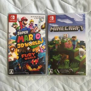 新品【Switch】 スーパーマリオ 3Dワールド+フューリーワールド マインクラフト 2本セット