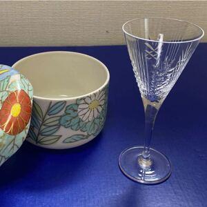 カクテル.グラス と 蓋付き陶器