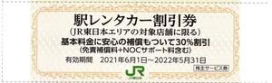 □JR東日本株主優待□駅レンタカー割引券