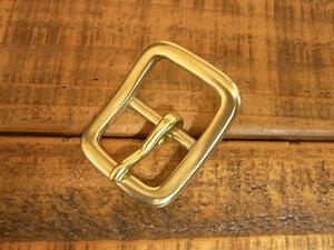 バックル 真鍮 無垢 ブラス 21mm レザー ベルト 革 2.1cm 美錠 尾錠 日型 カスタム レザークラフトに 107