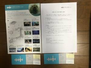 ☆【送料無料】京都水族館 年間パスポート引換券(2枚セット) ☆