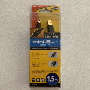ELECOM U2C-MF15BK mini-Bタイプ USB2.0ケーブル