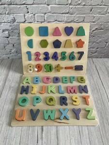 木製玩具積み木パズル大人気知育パズル アルファベット数字木のおもちゃ クリスマス