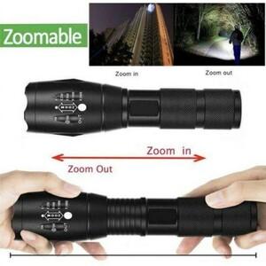 LED懐中電灯 防水LEDランプ高輝度ライト/USB充電式 キャンプ 夜釣り 夜間巡回 アウトドア