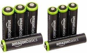 Amazonベーシック 充電池 充電式ニッケル水素電池 単3形4個セット (最小容量1900mAh、約1000回使用可能) &a