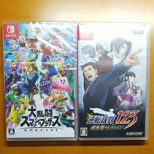 【Switch】 逆転裁判123 成歩堂セレクション [通常版] + 大乱闘スマッシュブラザーズ special 2本セット