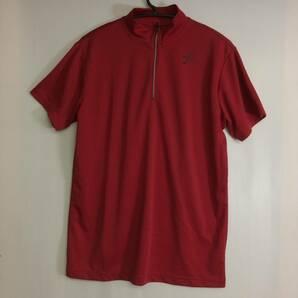 ワコ-ル CW-X ドライメッシュハーフジップシャツ 半袖 速乾 Lサイズ レッド