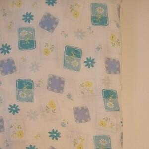 YUWA シャルマンコレクション Wガーゼ ブルー系 生地巾約108cm×約50cm