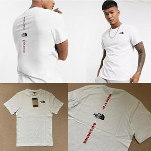XLサイズ相当★限定★The North Face ノースフェイス バックロゴ 半袖Tシャツ 白 ホワイト