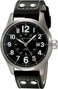 HAMILTON ハミルトン H70615733 Khaki Field カーキ フィールド 44mm レザー 機械式 自動巻 メンズ 腕時計 スイス製 裏蓋スケルトン
