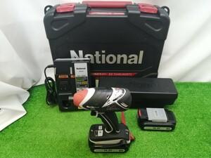 中古品 National ナショナル Panasonic パナソニック 14.4V 充電 インパクトドライバー 3.0Ahバッテリ×2付 EZ7540LN2ST1