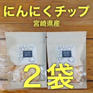 宮崎県産☆ドライにんにく☆15g×2袋☆乾燥にんにくチップ☆にんにくスライス №8