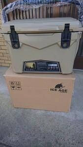 アウトドア キャンプ iceage アイスエイジ クーラーボックス 20QT 18.9L Tan ILC020TAN