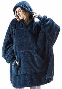 着るブランケット、毛布/ポンチョ、ルームウェア、ユニセックス、ふわふわ/厚手/ラウンジウェア、防寒、暖かい、冬、長さ100 cm 着る毛布