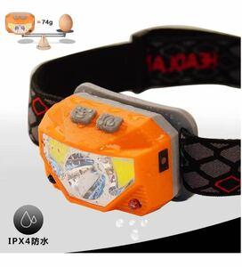 LEDヘッドライト 充電式 LEDヘッドランプ 小型軽量 USB充電器 高輝度 1個