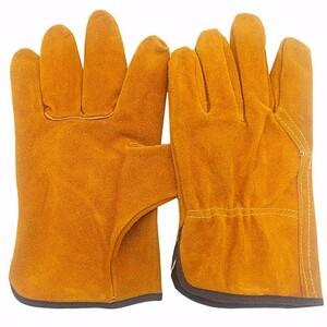 柔らかく耐熱性に優れた牛革グローブ 耐熱 手袋 キャンプ レザーグローブ BBQ 耐火グローブ アウトドア用 作業革手袋 バーベキュー