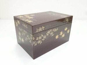 5524001: 溜塗雲錦蒔絵茶箱