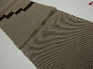 769665# 【1円~】絽 抽象模様織り出し名古屋帯