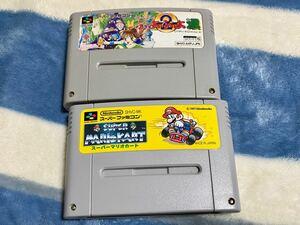 スーパーファミコンソフト 2個セット(すーぱーぷよぷよ2)と(スーパーマリオカート)