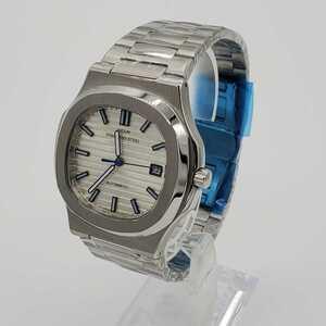 ★国内発送★ 新品 自動巻 DIDUN DESIGN PP オマージュウォッチ ホワイト ブルー メンズ腕時計 機械式 雲上ブランド
