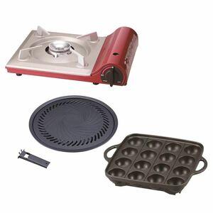 イワタニ カセットコンロ CB-TAS-1 焼肉プレート/たこ焼きプレートセット