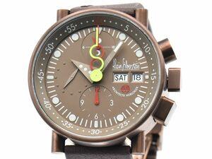 [3年保証] アランシルベスタイン メンズ クロノバウハウス オーバーホール済 裏スケ ブロンズ文字盤 自動巻き 腕時計 中古 送料無料