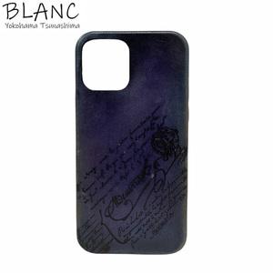 【送料無料】【極美品】ベルルッティ iPhone 12 Pro ケース ヴェネチアンレザー ブルー スマホ 横浜BLANC