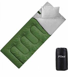 寝袋 シュラフ 封筒型 軽量 保温 210T 防水 1.0kg コンパクト 連結可能 キャンプ用丸洗い可能 収納パック付き 新品