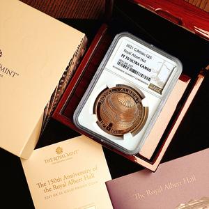 イギリス 2021年 ロイヤル・アルバート・ホール開場150周年記念 英国 5ポンド 金貨 NGC PF70UC【最高鑑定】