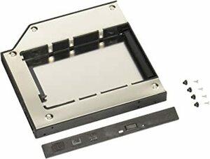 ホワイト グルービー ノートPC薄型ドライブベイ用 2.5インチ内蔵型HDD/SSDマウンタ [ スリムラインSAT