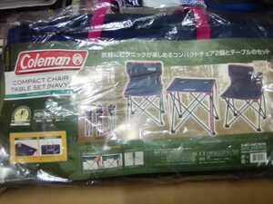 新品未使用品 コールマン Coleman テーブルセット コンパクトチェア ネイビー アウトドア キャンプ BBQ