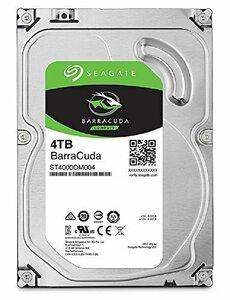Seagate BarraCuda 3.5 4TB 内蔵ハードディスク HDD 2年保証 6Gb/s 256MB (中古 良品)