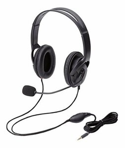 エレコム ヘッドセット マイク 4極 両耳 オーバーヘッド 耐久コード 40mmド(新品未使用品)
