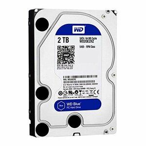 WD HDD 内蔵ハードディスク 3.5インチ 2TB WD Blue WD20EZRZ-RT SATA3.0 54(中古 良品)