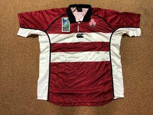 送料込 カンタベリー ラグビー 日本代表 ワールドカップ2003 ファーストジャージ L リポビタンD限定ボトル付