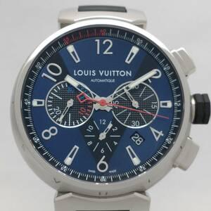 LOUIS VUITTON ルイ ヴィトン タンブール Q102V 自動巻 クロノグラフ メンズ 腕時計 店舗受取可
