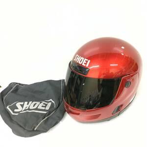 sf551 送料無料! SHOEI ショウエイ フルフェイス ヘルメット J-ACTER レッド XLサイズ(61~62cm) 1995年製 T8133