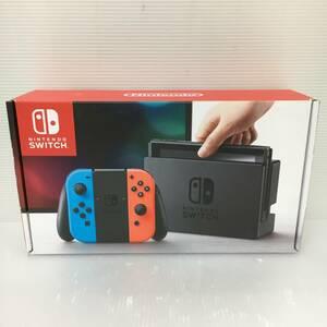 gf777 送料無料!動作品 ニンテンドースイッチ 本体 Nintendo Switch Joy-Con(L) ネオンブルー/(R) ネオンレッド 旧モデル
