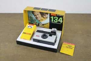 ヴィンテージ コンパクトフィルムカメラ KODAK INSTAMATIC 134/コダック インスタマチック 長期保管品 フィルム未開封 栞付き 昭和レトロ