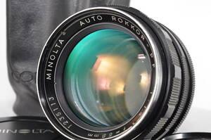 ミノルタ Minolta AUTO ROKKOR PF 58mm f1.4 #1833 【付属品多数】