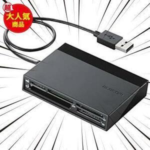 新品ブラック エレコム メモリリーダライタ USBハブ付 SD+MS+CF+XD ブラック MR-C24BKYIWR