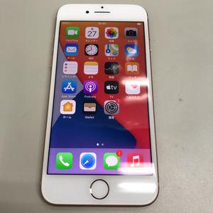 【送料無料/ジャンク品】SIMフリー docomo iPhone8 64GB MQ7A2J/A ゴールド SIMロック解除済 〇判定 バッテリー最大容量:100%