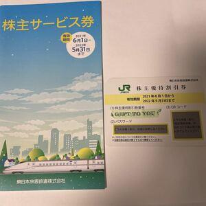 JR東日本 株主優待割引券 ( 2022.5.31まで)1枚 + 株主サービス券1冊 送料無料