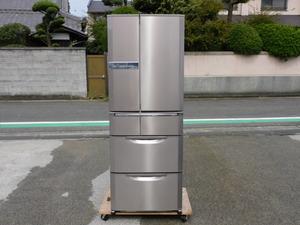 【引取限定-大阪/正常動作品】三菱 MR-EX57S-RT 6ドア冷蔵庫 大容量570L ロゼステンレス 500L以上 回るん棚 大型 中古 清掃済み 家庭用